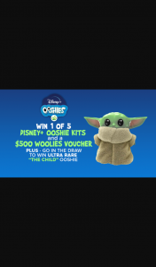 Channel 9 – Today Show – Win 1 of 5 Disney Ooshie Kits and $500 Woolworths Voucher