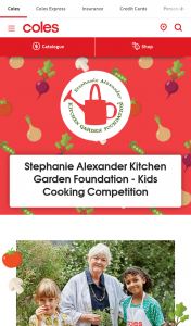 COLES kids cooking comp – Win an Exciting Prize Pack From The Stephanie Alexander Kitchen Garden Foundation and Coles