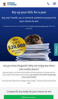 Compare The Market – Win One of Three Bill-Busting Prizes Worth $20000 (prize valued at $60,000)