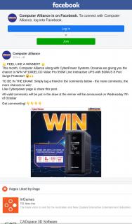 Computer Alliance – Win Vp1000elcd Value Pro 550w Line Interactive Ups With Bonus 8 Port Surge Protector