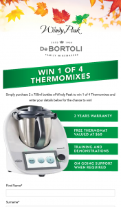 De Bortoli – Win a Tm6 Thermomix Valued at $2269 (prize valued at $2,329)