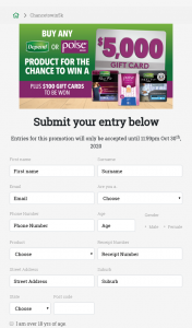 """Depend or Poise – Win The Major Prize of $5000 Which Will Be Rewarded In The Form of 2 X $2500 Eftpos Gift Cards (""""major Prize""""). (prize valued at $7,800)"""