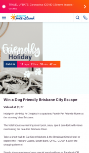 Discover Queensland – Win a Dog Friendly Brisbane City Escape (prize valued at $1,127)