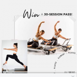 Element Pilates – Win 30 X Casual Session Pass (prize valued at $1,050)