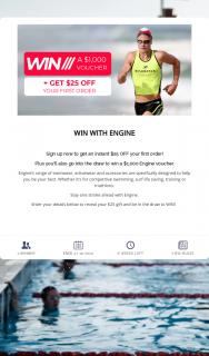 Engine Swim – Win a $1000 Engine Voucher (prize valued at $1,000)