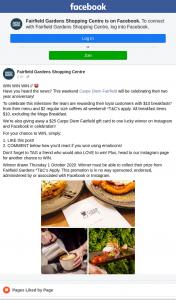 Fairfield Gardens Shopping Centre – Win a $25 Carpe Diem Gift Card