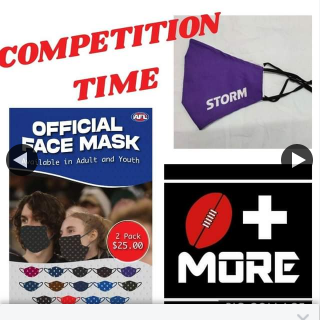 Footy Plus More – Win a Footy Related Face Mask (prize valued at $25)