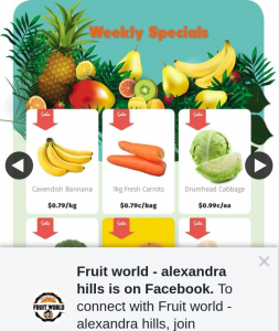 Fruit World Alexandra Hills – Win a $50 Voucher (prize valued at $50)