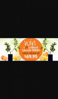 Gardening Australia – Win a Fruit Salad Tree (prize valued at $69.95)