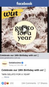 Gelatissimo – Win a Year's Worth of Gelato