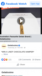 Gelatissimo – Win One of Two Lindt Chocolate Hampers (prize valued at $100)