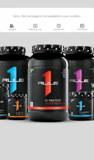 Global Nutrition Australia – Win Supplements and Merchandise From Rule 1 Proteins (prize valued at $1,000)