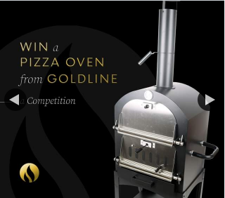 Goldline Cooktops – Win a Wood Fire Pizza Oven (prize valued at $399)
