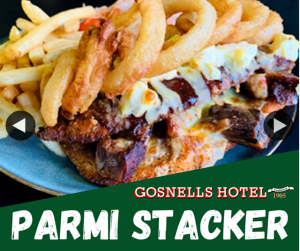 Gosnells Hotel – Win Two Parmi Stackers for You & a Mate