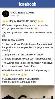 Gould Estate Agents – Win a Carton of Corona