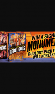 Hachette Books – Win a Signed Monuments Duology Pack From Will Kostakis