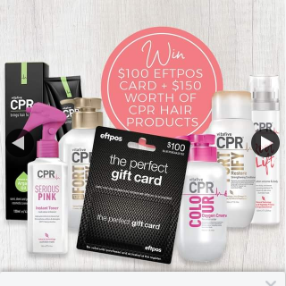 Hair Beauty Co-op – Win a $100 Eftpos Card Plus $150 Worth of Cpr Hair Products (prize valued at $250)