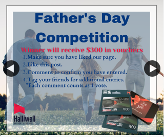 Halliwell Property Agents Devonport – Win Your Father Vouchers to Bunnings & Goodstone Group to The Value of $300 (prize valued at $300)
