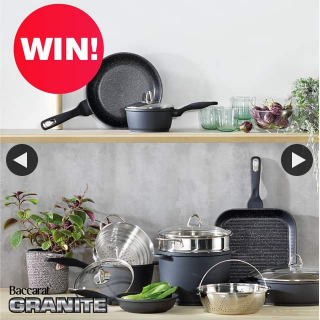 House – Win The Baccarat®️ Granite 10 Piece Cookware Set Valued at $1199.99 RRP (prize valued at $1,199.99)