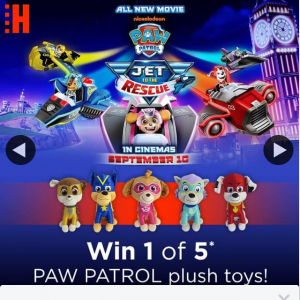Hoyts Australia – Win One of Five Paw Patrol Plush Toys