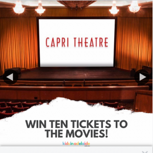 Kids in Adelaide – Win a Movie for Your Child 10 Friends