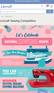Lincraft – Win a Sewing Machine (prize valued at $1,249)