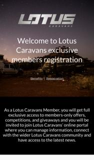 Lotus Caravans Member Registration – Win $200 Bcf E (prize valued at $200)