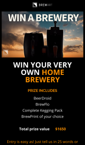 Man of Many – BrewArt – Win One of These Excellent Brew Systems Valued at RRP $1650. (prize valued at $1,650)