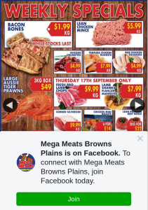 Mega Meats Browns Plains – Win a $200 Voucher (prize valued at $200)