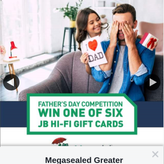 Megasealed Greater Perth – Win a $100 Gift Card for Jb Hi-Fi