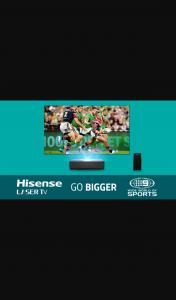 Nine Network-WWOS – Win 100″ Laser Tv (model H110lda)