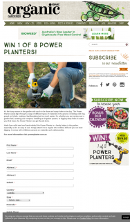 Organic Gardener – Win 1 of 8 Power Planters (prize valued at $560)