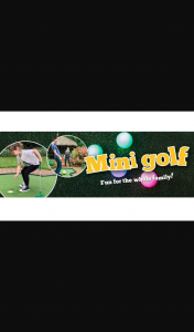 Perth Now – Win 1 of 4 Mini Group/family Passes to Play Mini Golf at The Wanneroo Botanic Gardens