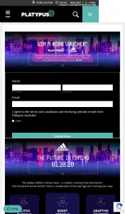 Platypus shoes – Win $500 Worth of Adidas Shoes