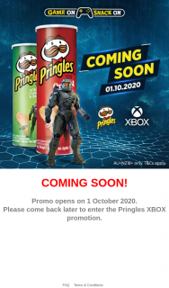 Pringle's – Win an Xbox Series X Console (prize valued at $1)