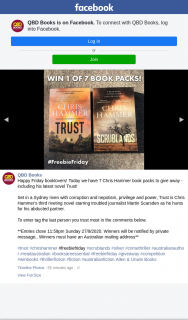 QBD Books – Win One of Seven Chris Hammer Book Packs