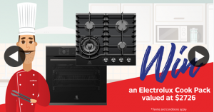 Retravision – Win an Electrolux Multifunction Oven & Gas Cooktop (prize valued at $2,726)