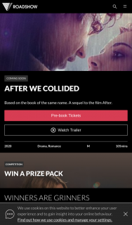 Roadshow Entertainment – Win One of Two After We Collied Packs