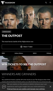 Roadshow – Win Four Tickets to See The Outpost