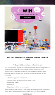 Scisizz – Win The Ultimate Kid's at Home Science Kit Worth $600 (prize valued at $600)
