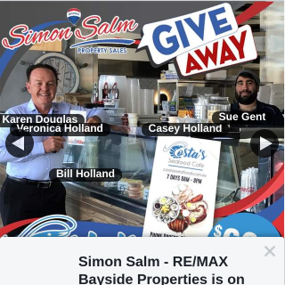 Simon Salm Remax Bayside Properties – Win a $69.50 Gift Voucher From Costas Seafood Cafe