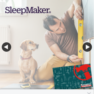 SleepMaker – One Bunnings E-Gift Voucher to The Value of $50 Each (prize valued at $150)