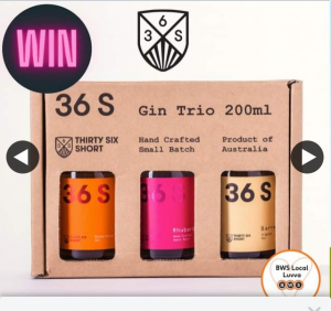 South Aussie With Cosi – Win a 36 Short Gin Trio Pack??