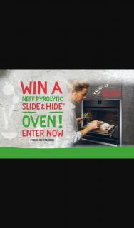 South Melbourne Market – Win a Neff Pyrolytic Slide&hide® Oven Promotion 2020 (prize valued at $2,899)