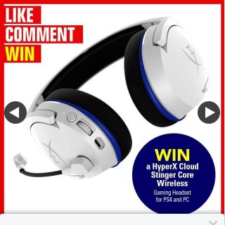 Stack magazine – Win a Hyperx Cloud Stinger Core Wireless Gaming Headset for PS4 and Pc