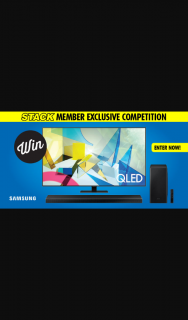 "Stack magazine – Win a 75"" Samsung Q80t Qled Tv and Soundbar"