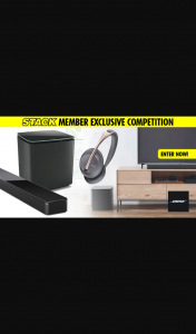 Stack magazine – Win an Amazing Bose Audio Pack With Some of The Coolest New Tech Releases That Include Bose Smart Soundbar 700 Bose Bass Module 700 and Bose Noise Cancelling HeaDouble Passhones 700 (exclusive).
