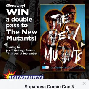 Supanova – Win One of Ten The New Mutants Double Passes