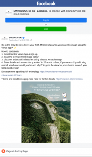 Swarovski – Win Pack for You and Your Friends (prize valued at $4,950)