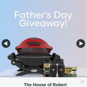 The House of Robert Timms – Win Prize Pack Including Weber Q Premium
